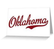 Oklahoma Script Garnet Greeting Card