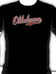 Oklahoma Script Garnet T-Shirt