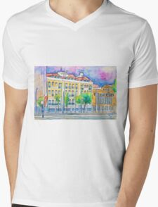 Lisboa Cidade da Luz. Lisbon City of Light. Mens V-Neck T-Shirt