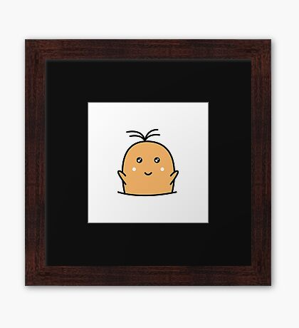 Adorable Cute Potato Framed Print