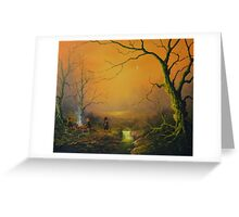 Three is good company (a fox watches on) Greeting Card
