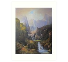 The Valley Of The Elves. Art Print