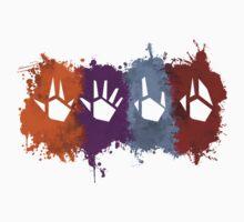 Prime Beams Splatter (Transparent Symbols) Kids Tee