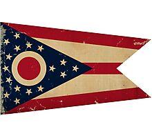 Ohio State Flag VINTAGE Photographic Print