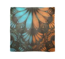 Shikoba Fractal -- Beautiful Leather, Feathers, and Turquoise Scarf