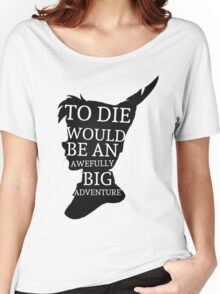 Peter Pan Quote Silhouette -- Big Adventure Women's Relaxed Fit T-Shirt