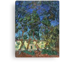 Vincent Van Gogh -  Grounds Of  Asylum, 1889 Canvas Print
