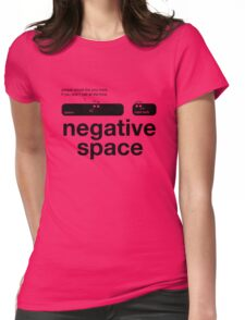 Negative Space(bar) Womens Fitted T-Shirt