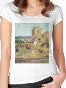 Vincent Van Gogh -  Old Mill, 1888 Women's Fitted Scoop T-Shirt