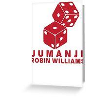 Jumanji Robin Williams Greeting Card