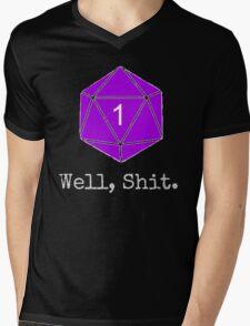 Critical Fail Roll - Custom Basic Mens V-Neck T-Shirt