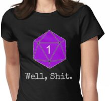 Critical Fail Roll - Custom Basic Womens Fitted T-Shirt