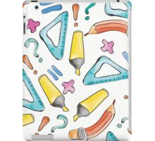 Hand drawn seamless pattern with marker, pen, ruler and rubber iPad Case/Skin