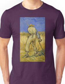 Vincent Van Gogh -  Reaper 1890 Unisex T-Shirt