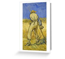 Vincent Van Gogh -  Reaper 1890 Greeting Card
