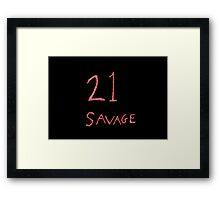 21 Savage Framed Print