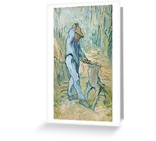 Vincent Van Gogh -  Woodcutter (After Millet) 1890 Greeting Card