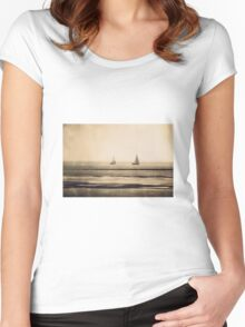 sailing... Women's Fitted Scoop T-Shirt
