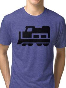 Heavy Diesel Train Locomotive Icon Tri-blend T-Shirt