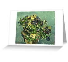 Vincent Van Gogh - Basket Of Pansies  Greeting Card