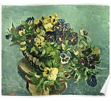 Vincent Van Gogh - Basket Of Pansies  Poster