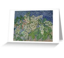 Vincent Van Gogh - Blossoming Chestnut Branches 1890 Greeting Card