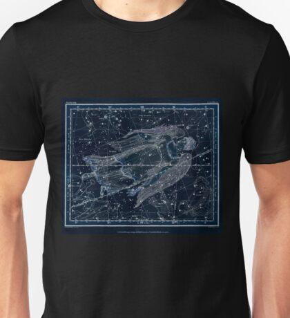 Alexander Jamieson A Celestial Atlas 1822 Plate 18 Astronomy Constellations Inverted Unisex T-Shirt