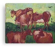 Vincent Van Gogh - Cows (After Jorsaens), 1890 Canvas Print
