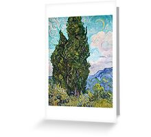 Vincent Van Gogh - Cypresses 1989  Greeting Card
