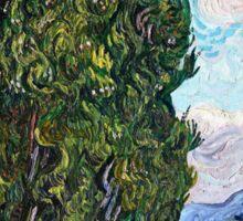 Vincent Van Gogh - Cypresses 1989  Sticker
