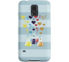 Chemistry Flask, Hearts - Red Blue Yellow Purple Samsung Galaxy Case/Skin