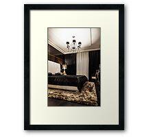 Interior bedroom  Framed Print