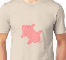 Pink Flat Carpet Pig Unisex T-Shirt