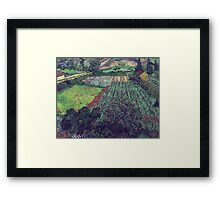 Vincent Van Gogh - Field With Poppies, 1889 Framed Print