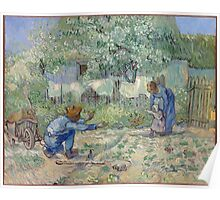 Vincent Van Gogh - First Steps (After Millet), 1890 Poster