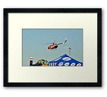 Red Bull Helicopter Framed Print