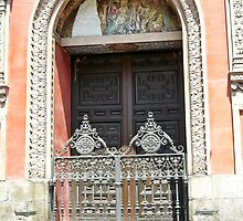 Madrid - Church door by Michelle Falcony
