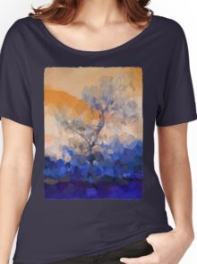 Winter Tree against an Orange Sky Women's Relaxed Fit T-Shirt