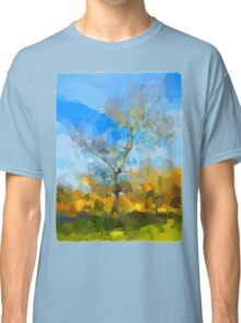 Winter Tree against a Blue Sky Classic T-Shirt