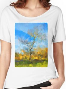 Winter Tree against a Blue Sky Women's Relaxed Fit T-Shirt