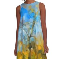 Winter Tree against a Blue Sky A-Line Dress