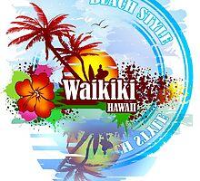 Waikiki Hawaii by dejava