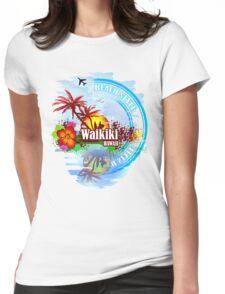 Waikiki Hawaii Womens Fitted T-Shirt