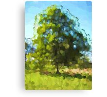 Sunlit Tree in the Wind Canvas Print
