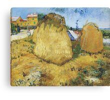 Vincent Van Gogh - Haystacks In Provence, 1888 Canvas Print