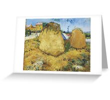 Vincent Van Gogh - Haystacks In Provence, 1888 Greeting Card