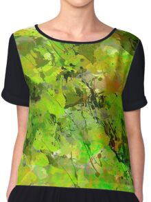 Watercolour abstract Chiffon Top