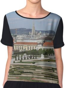 View from Upper Belvedere, Vienna Austria Chiffon Top