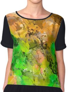 Paint abstract Chiffon Top
