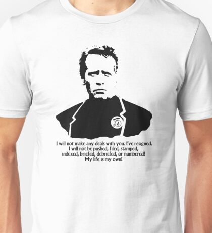 The Prisoner resigned Unisex T-Shirt